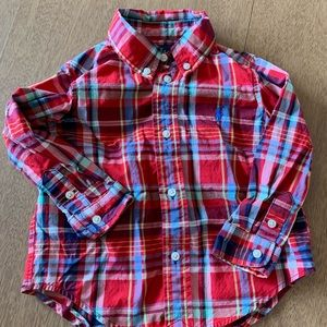 🏇🏼 2 for $20 Ralph Lauren Red Plaid Shirt 24m